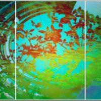 Les citronniers de LausannePhotographie Triptyque 210x100 cm