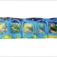 Ombres et lumières - Lucerne - Le mont Analogue - René DaumalPhotographie et encre sur papier - 20x70cm