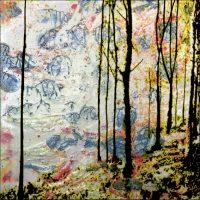 De la lumière - Englischer Garten-Munich - Technique mixte - 50x50 cm