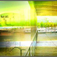 Paysages simultanés - De Paris à Amsterdam Photographie Triptyque 300x70 cm