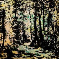 Un matin en forêt - Lausanne - Technique mixte - 30x30 cm