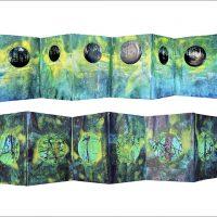 Dans la forêt verte de Lucerne - Poisson soluble André Breton - Photographie et encre sur papier25x150cm