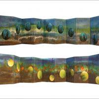 Dans les forêts - Lucerne - Clair de terre - André BretonPhotographie et encre sur papier25x150cm