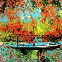 Série Jardins infinis - Traverser la lumière Photographie et peinture acrylique sur toile 100 x 100 cm