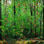 Série Jardins infinis - Berne - Forêt du Dählhölzli - Photographie et peinture - 100 x 70 cm