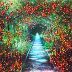 Série Jardins infinis - En suspens - Saint-Germain-en-Laye - Photographie et peinture - 100 x 70 cm