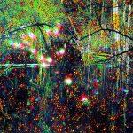 Série Jardins infinis - L'ile verte à Lausanne - Photographie et peinture - 100 x 70 cm