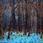 Série Jardins infinis - Munich - Englischer Garten - Photographie et peinture - 100 x 70 cm