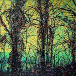Série Jardins infinis - Sentier des narcisses - Montreux - Photographie et peinture - 100 x 70 cm